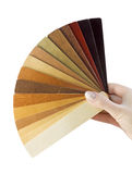 Samples of wood coatings Royalty Free Stock Image