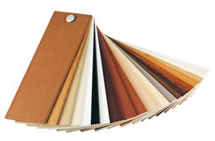 Samples of wood coatings Royalty Free Stock Images