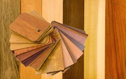 Samples of wood and laminated material Royalty Free Stock Photo