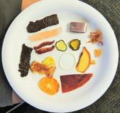 Sampling various dehydrated foods