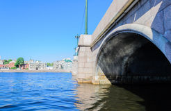 Sampsonievsky bridge in St. Petersburg. Bridge in St. Petersburg. Sampsonievsky bridge in St. Petersburg. The bridge over the river Bolshaya Nevka. Beautiful stock images