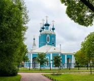 Sampsonievsky domkyrka i St Petersburg Arkivfoton
