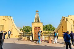 Samrat Yantra in Jaipur Stockbilder