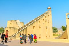 Samrat Yantra in Jaipur Stockfoto