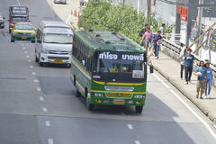 Samrong to BangPhli bus car Stock Photos
