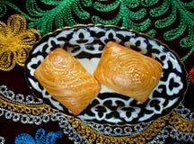 Samsa orientale tradizionale dell'alimento Fotografia Stock