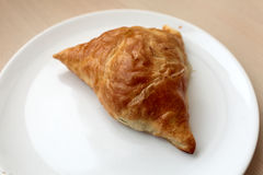 Samsa on a white plate Stock Photo