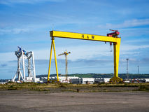 samson 著名造船厂起重机在贝尔法斯特 免版税图库摄影