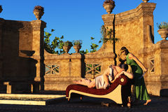 Samson and Delilah Royalty Free Stock Photo