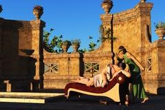 Samson et Delilah Photo libre de droits