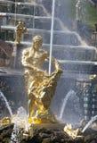 Samson fontanna w Peterhof Fotografia Royalty Free