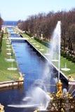 The Samson Fountain Stock Photo