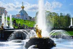 Samson fountain Stock Images