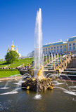 Samson Fountain of the Grand Cascade near Peterhof Palace. Stock Photography