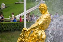Samson fountain of the Grand Cascade Royalty Free Stock Image