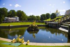 Samson fountain at Pertergof Palace.Saint-Petersburg, Russia Royalty Free Stock Image