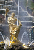 Samson fountain in Peterhof Royalty Free Stock Photography