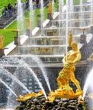 Samson Fountain in Peterhof Palace, Russia Royalty Free Stock Photo