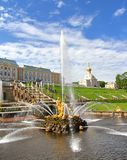 Samson Fountain in Peterhof Palace, Russia Stock Photo