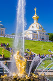 Samson Fountain in Peterhof, Russia Stock Photo