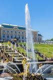 Samson Fountain in Peterhof, Russia Royalty Free Stock Image
