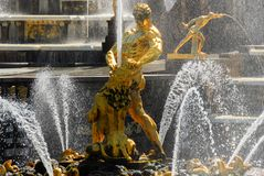 Peterhoff Palace - Saint Petersburg, Russia. Samson fountain in the Peterhoff Palace in St. Petersburg, Russia Royalty Free Stock Photo
