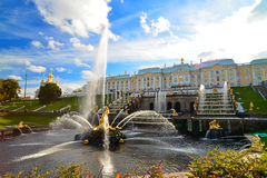 Samson Fountain, Russia Stock Images