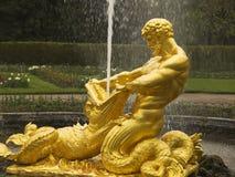 Samson golden fountain Stock Image