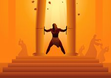 Free Samson Held The Pillars Of The Temple And Pushing Them Apart Stock Photos - 133205403