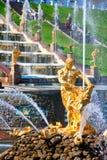 Samson i lew fontanna Fotografia Stock