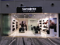 Samsonite business brand retail boutique outlet Royalty Free Stock Images