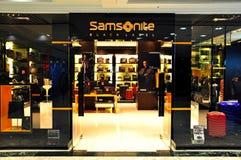 Samsonite detaliczny butik zdjęcie royalty free
