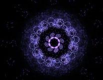 Samspel av den abstrakta fractalen bildar på ämnet av kärn- fysik, vetenskap och den grafiska designen Samspel av den abstrakta f Royaltyfria Foton