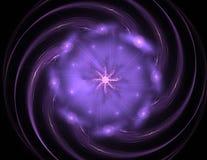 Samspel av den abstrakta fractalen bildar på ämnet av kärn- fysik, vetenskap och den grafiska designen Samspel av den abstrakta f Royaltyfri Foto