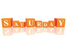 Samstag in den Würfeln 3d Lizenzfreie Stockfotos