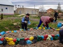 Samstag in der Kaluga-Region in Russland Stockfotografie