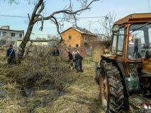 Samstag in der Kaluga-Region in Russland Lizenzfreies Stockfoto