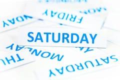 Samstag-Wortbeschaffenheitshintergrund Lizenzfreies Stockbild