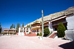 Samstenlingsklooster, Sumur, Nubra-Vallei, Ladakh, India Royalty-vrije Stock Foto