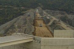 Samsun, Turkey - October 23, 2016:  Dam construction operation near Samsun city, Turkey Stock Photos