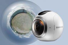 Samsung κάμερα 360 βαθμού Στοκ φωτογραφίες με δικαίωμα ελεύθερης χρήσης