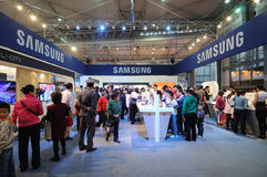 Samsung booth Royalty Free Stock Image