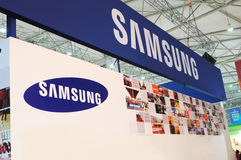 Samsung booth Royalty Free Stock Photos