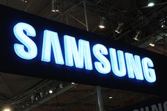 Samsung  booth logo Royalty Free Stock Images