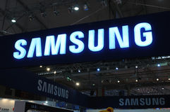 Samsung booth logo Royalty Free Stock Image
