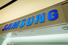 Samsung booth logo Stock Photo