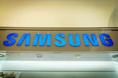 Samsung booth logo Royalty Free Stock Photo