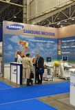 Samsung booths at medical exhibition Stock Photos