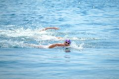 2018 Samsung Bosphorus Cross-Continental Swimming Race royalty free stock photo