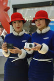Samsung camera with show girls Stock Images